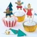 Kit 24 Caissettes D�co et Stickers Cupcakes Gingerbread. n�2