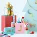 4 �tiquettes Cadeaux Noeuds de No�l. n�2
