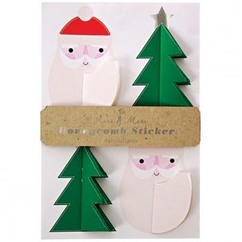 12 Grands Stickers Noël 3D