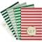 8 Pochettes Rayées Cadeaux et Cupcakes images:#0