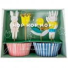 Kit 24 Caissettes et D�co Lapins C�lins