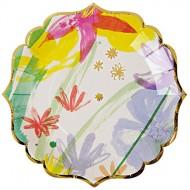 8  Mini Assiettes Fleurs Romance