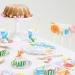 16 Petites Serviettes Fleurs Romance. n°2
