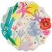 8 Assiettes Fleurs Romance. n°1