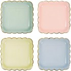 8 Assiettes Pastel Rainbow
