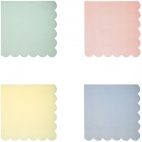 Contient : 1 x 20 Petites Serviettes Pastel Rainbow