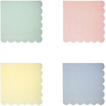 20 Petites Serviettes Pastel Rainbow