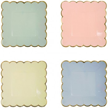 8 Petites Assiettes Pastel Rainbow