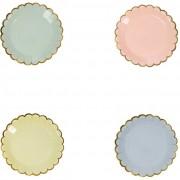 8 Mini Assiettes Pastel Rainbow