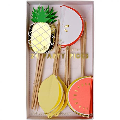 24 Pics Déco Cupcakes Fruity Party