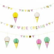 Guirlande Glace Party We love Ice Cream