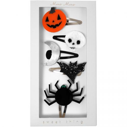 5 Barettes Halloween
