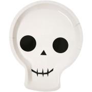 12 Assiettes Squelette