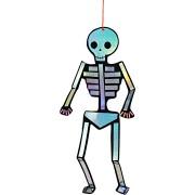 8 Squelettes Argent irisé à suspendre (24 cm)