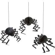 3 Araignées 3D à suspendre (18 cm)