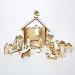 Calendrier de l Avent Crêche de Noël en bois. n°1