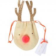 Petit Sac Cadeau Renne (12 cm)