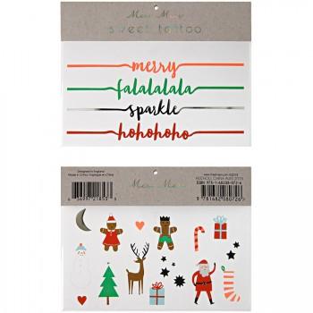 Tatouages Noël Motifs et Bracelets