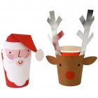 8 gobelets Père-Noël + Renne