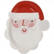 12 Assiettes Père Noël