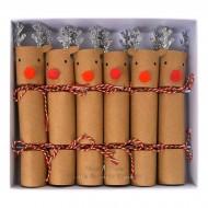 6 Petits Crackers Rennes de Noël