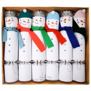 6 Crackers Bonhomme de Neiges (24 cm)