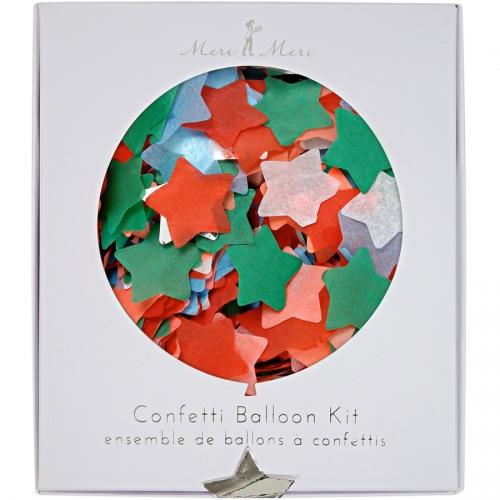 Kit 8 ballons Confettis Multicolores
