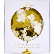 Kit 8 ballons Confettis Or