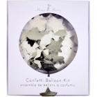 Kit  8 ballons Confettis Argent