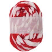 Laine ray�e Rouge et Blanc (9 cm)