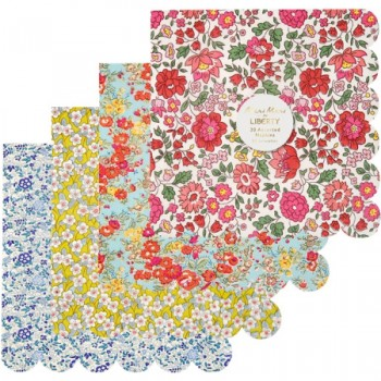 20 Serviettes Liberty Fantaisie