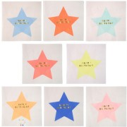 16 Serviettes Magic Stars Happy Birthday