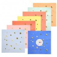 16 Petites Serviettes Magic Stars