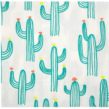 20 Serviettes Cactus Party