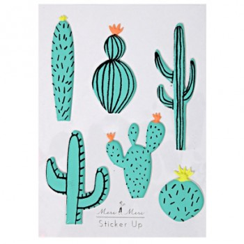 6 Stickers Cactus en Relief