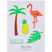 5 Stickers Tropical Summer