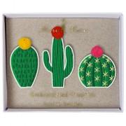 3 Broches Cactus Brodés à Pompons