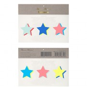 6 Tatouages Etoiles Bicolores