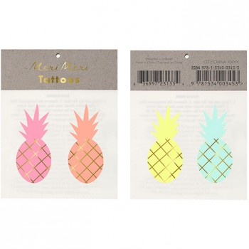4 Tatouages Ananas Summer Colors