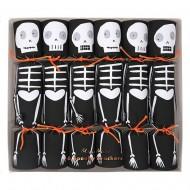 6 Petits Crackers Squelettes (17 cm)