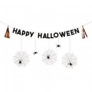 Guirlande Happy Halloween Araignée Cuivre (2,40 m)