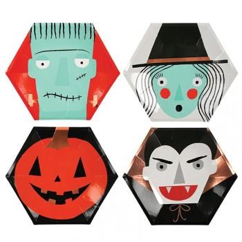 8 Assiettes Halloween Band (26 cm)