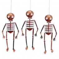 8 Squelettes Cuivre à Suspendre (24 cm)