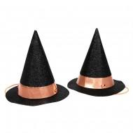8 Mini Chapeaux Sorcière Cuivre