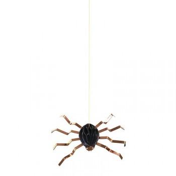6 Araignées Cuivre 3D à Suspendre (15 cm)