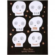 18 Stickers Tête de Mort Cuivre