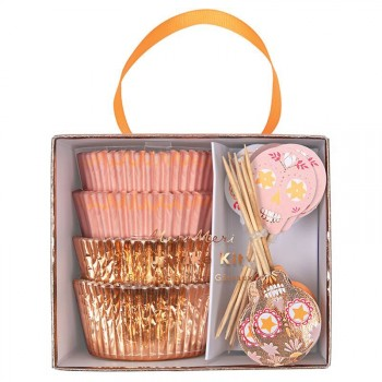24 Caissettes et Déco à Cupcakes Calavera Fantaisie