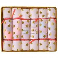 6 Mini Crackers Confetti Star (11 cm)
