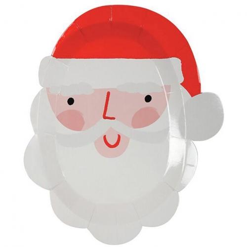 12 Assiettes Père Noel