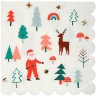 Contient : 1 x 16 Serviettes Joli Noel